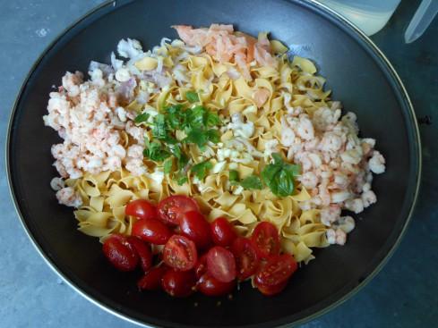 one pot pasta saumon crevettes