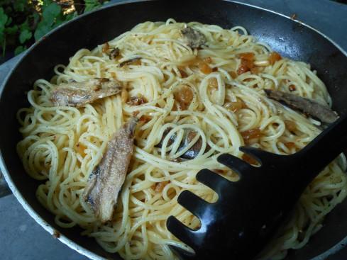spaghettis aux sardines. 3