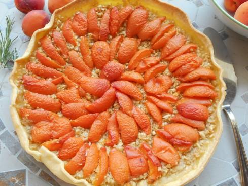 tarte pomme râpée abricots 1