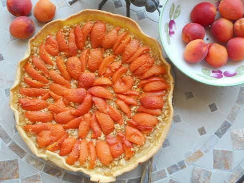 tarte pomme râpée abricots.3