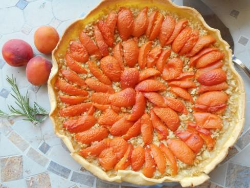 tarte pomme râpée abricots.4