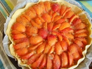 tarte pomme râpée abricots
