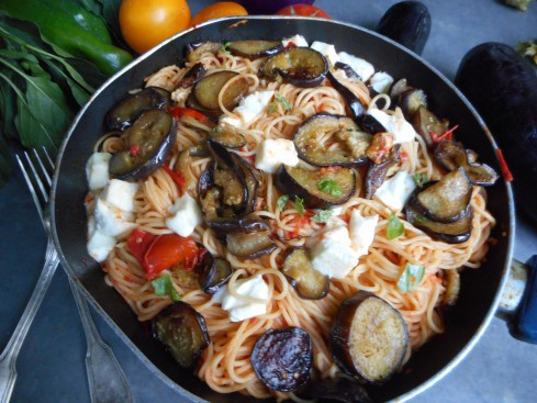 macaronis aux aubergines 1