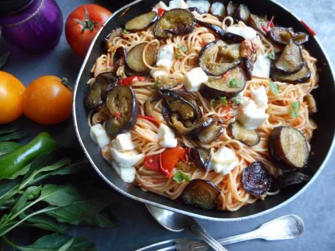 macaronis aux aubergines