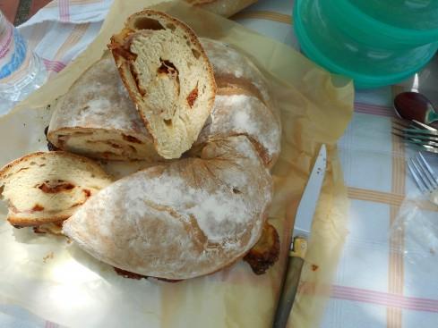 pain couronne  tomates séchées-jambon 1