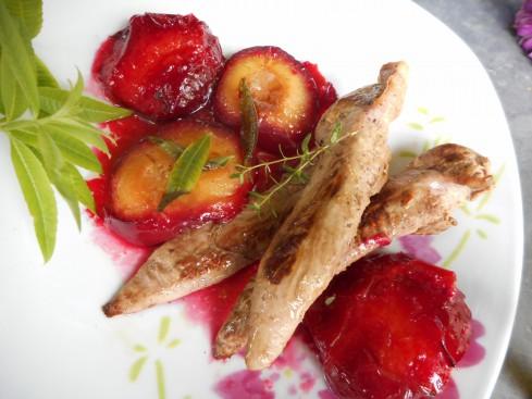 aiguillettes canard aux prunes 1