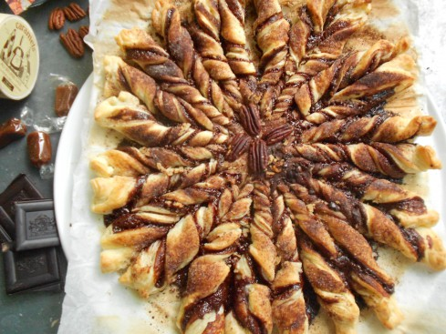 tarte soleil choco caramel noix 1