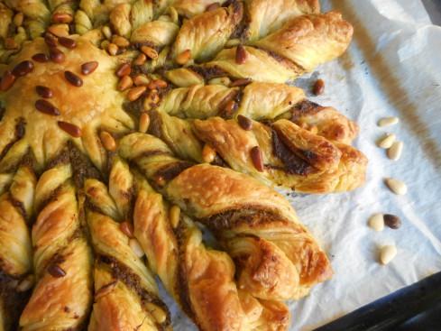 tarte soleil pesto pignons 2