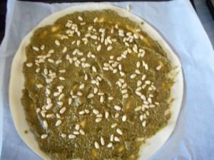 tarte soleil pesto pignons 3