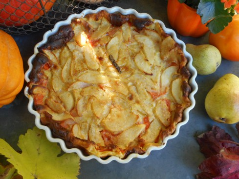 clafoutis courge-poire 5