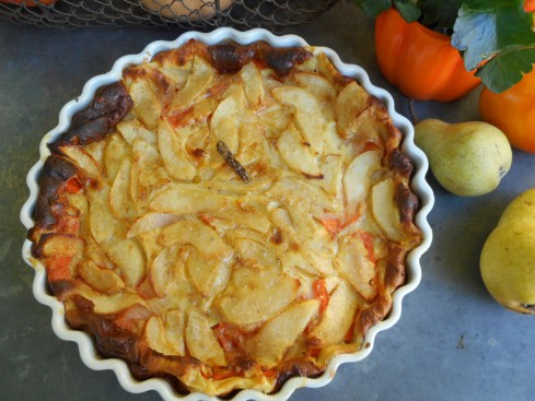 clafoutis courge-poire