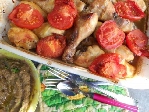 pilons-de-poulets-balsamique-pureeaubergine-e1444406886869