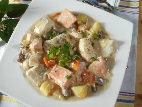 blanquette de poissons express