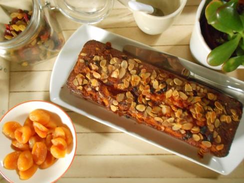 cake carottes fruits secs