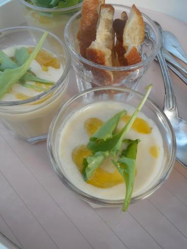 gaspacho de haricots tarbais huile de mandarine 3