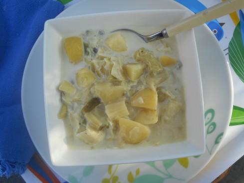 potage poireau pommes de terre à lacrème 1