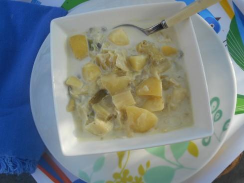 potage poireau pommes de terre à lacrème 2