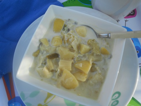 potage poireau pommes de terre à lacrème
