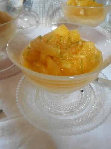 velours de coco à l'ananas