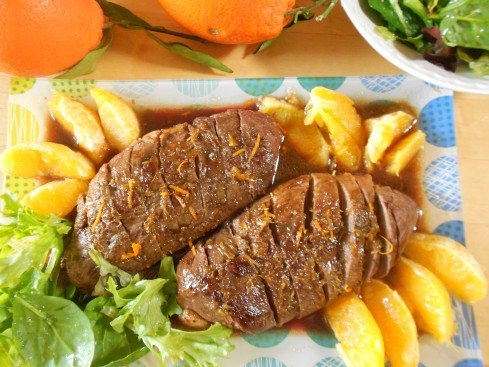 magret canard sauce orange gingembre