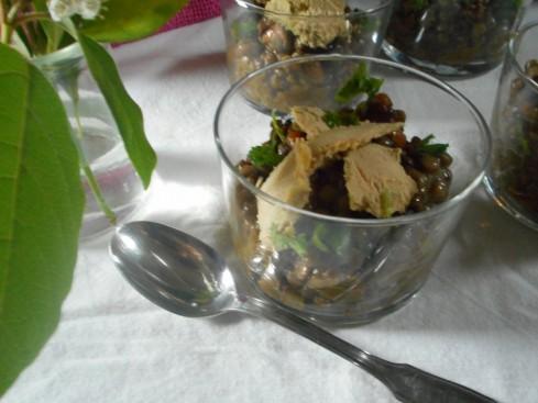 salade lentilles foie gras grenade noisette 4