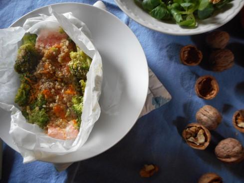 saumon en papillotes orange noix2