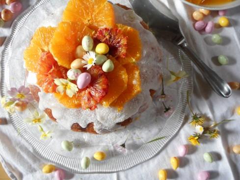 Savarin Nid de Pâques salade d'oranges 1