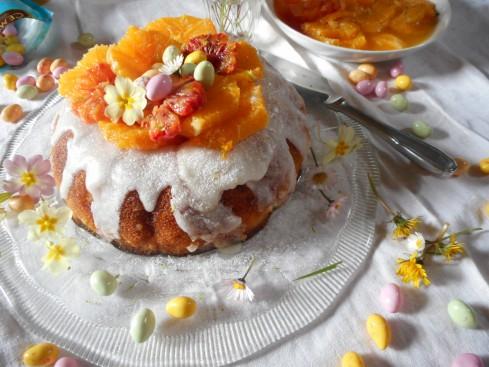 Savarin Nid de Pâques salade d'oranges