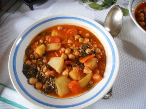 soupe épicée pois chiches tomates épinards 4