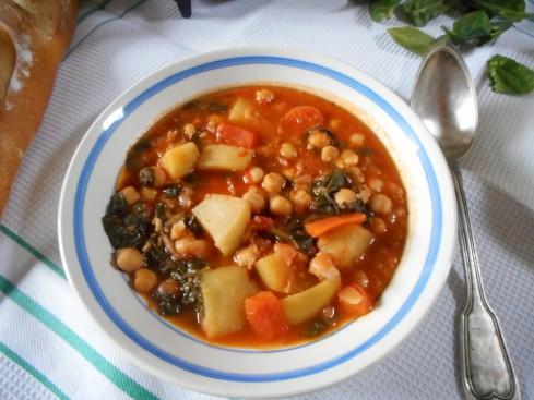 soupe épicée pois chiches tomates épinards 5