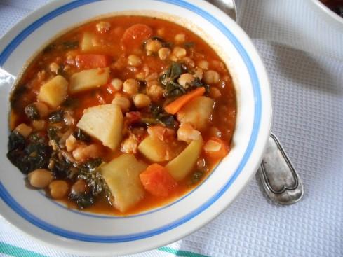soupe épicée pois chiches tomates épinards 6