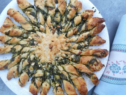 tarte soleil épinards chevre parmesan 1