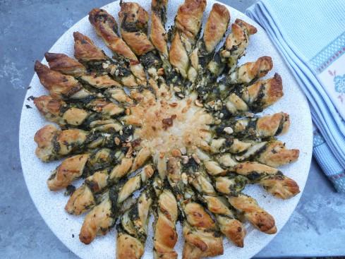tarte soleil épinards chevre parmesan 2