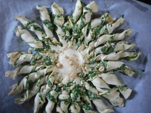 tarte soleil épinards chevre parmesan 5