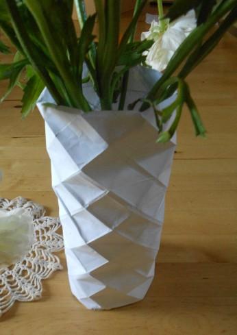 vase origami DYI 1