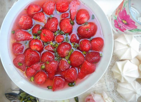 fraises à la rose 1