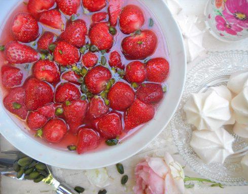 fraises à la rose 2