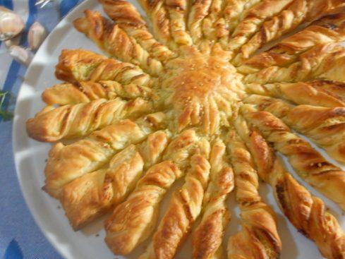 tarte soleil ail et persil. 1