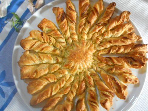 tarte soleil ail et persil