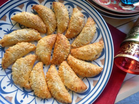 mini chaussons tomate-cannelle