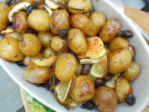 pommes aux olives et au citron