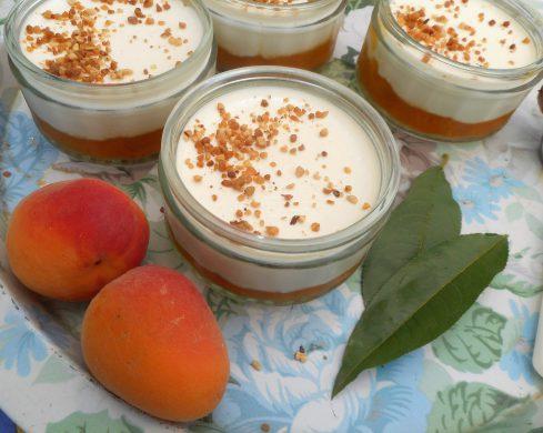 pannacotta à l'amande et aux abricots